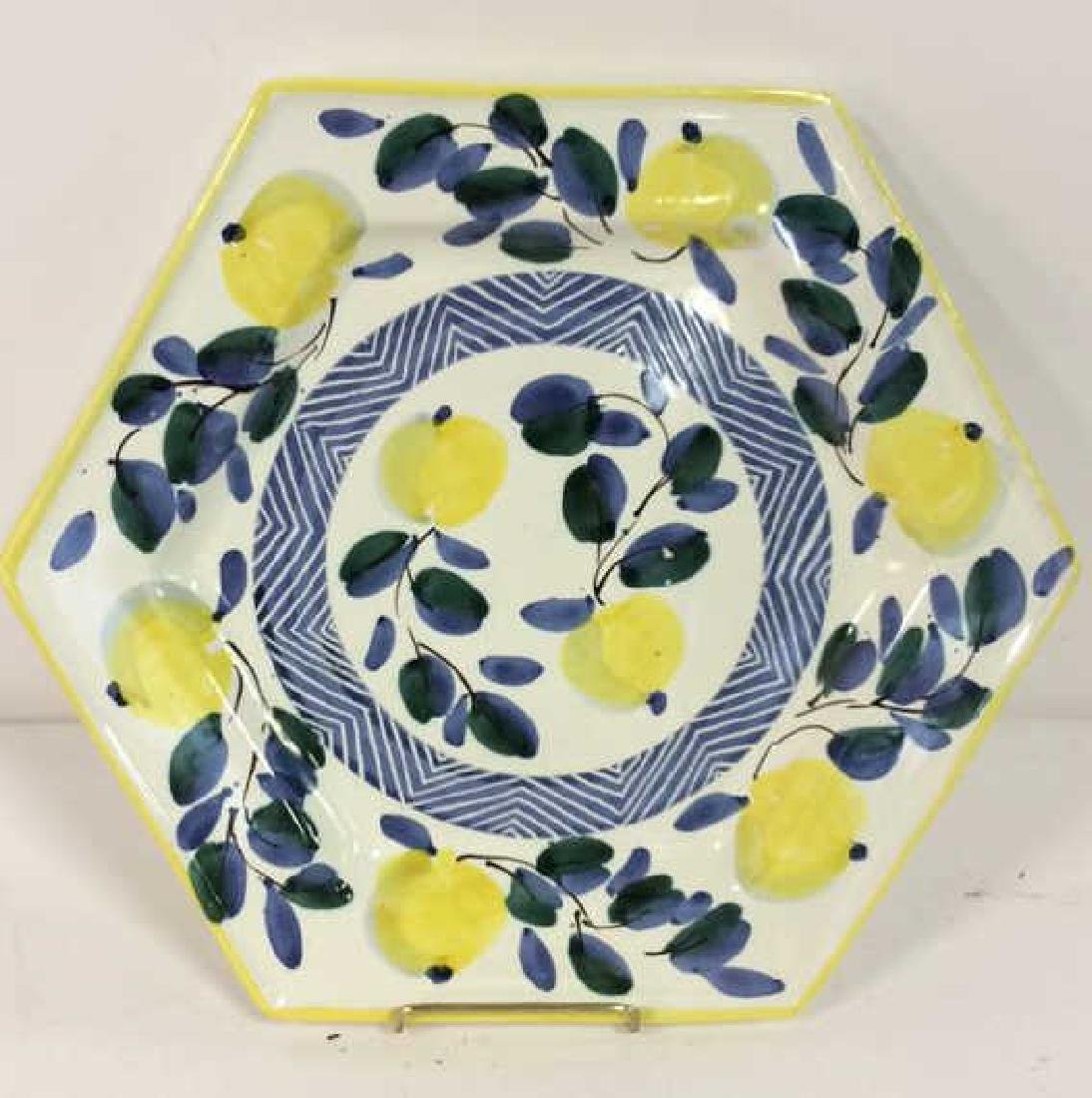 Set 4 RAMPINI RADDA Signed Ceramic Plates - 9