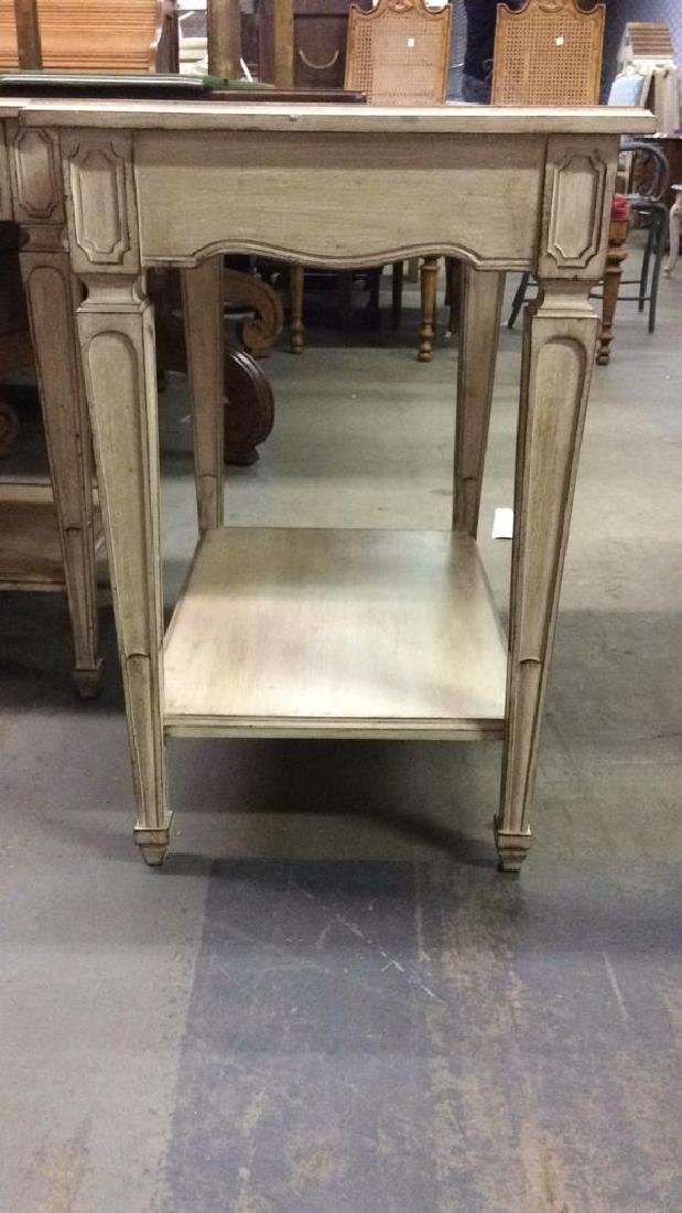 Lot 2 Cream Toned Mid Century Modern Side Tables - 5