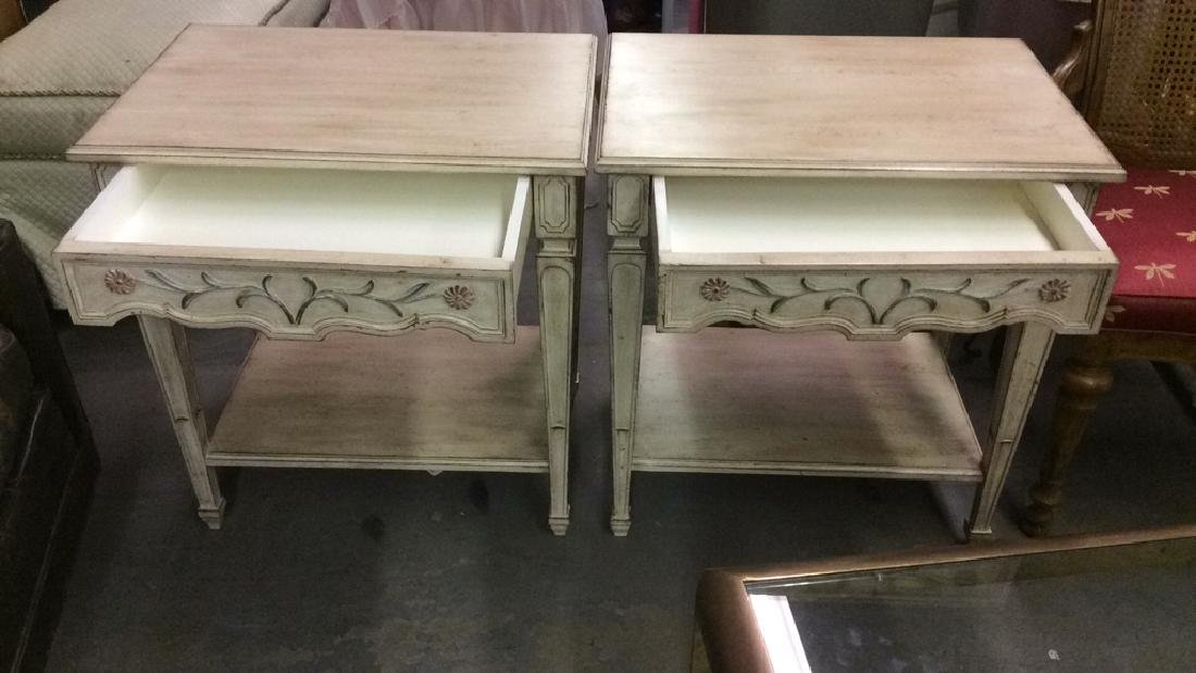 Lot 2 Cream Toned Mid Century Modern Side Tables - 8