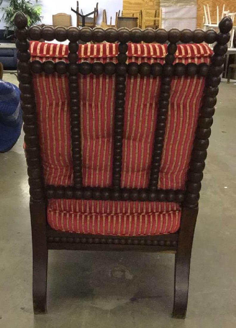 English Bobbin Wood Carved Armchair - 6