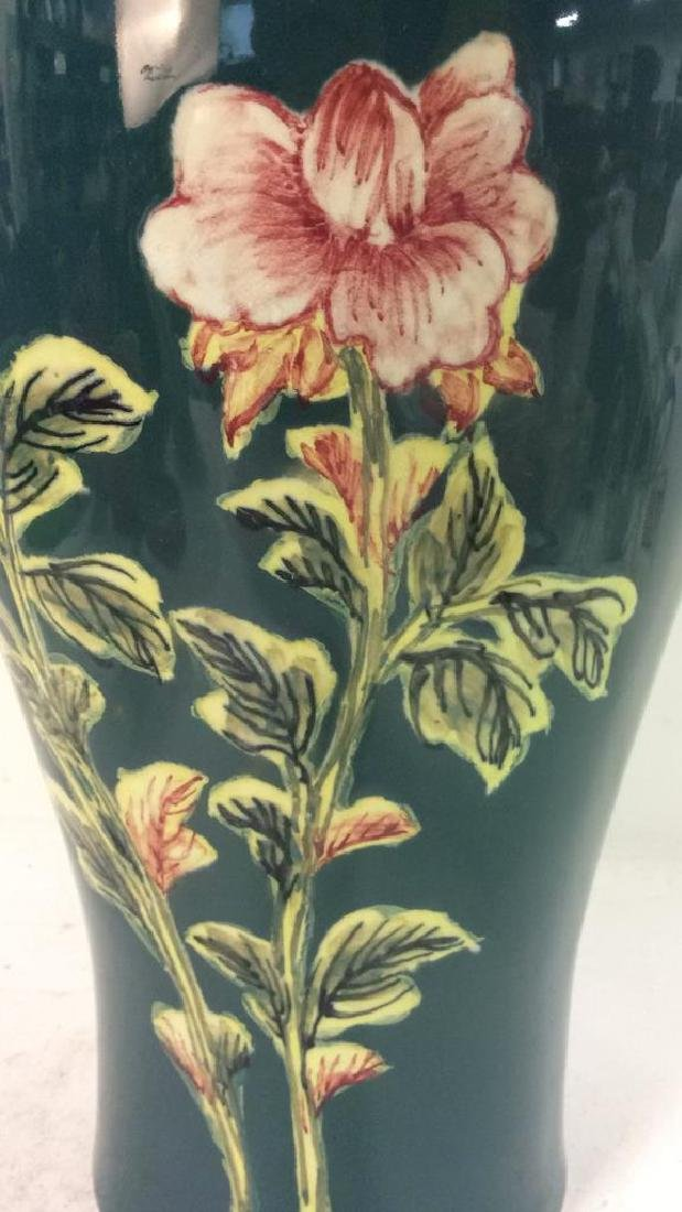 Asian Floral Detailed Ceramic Porcelain Vase - 5