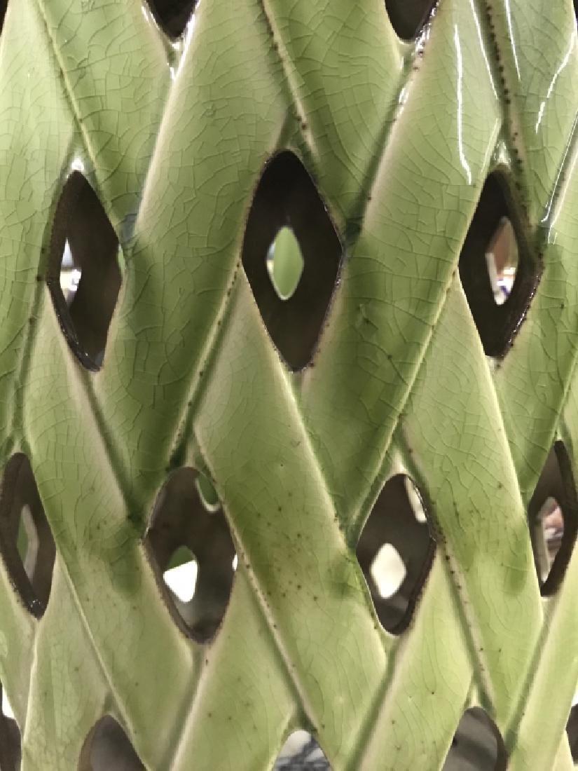 Green Toned Porcelain Garden Stool - 4