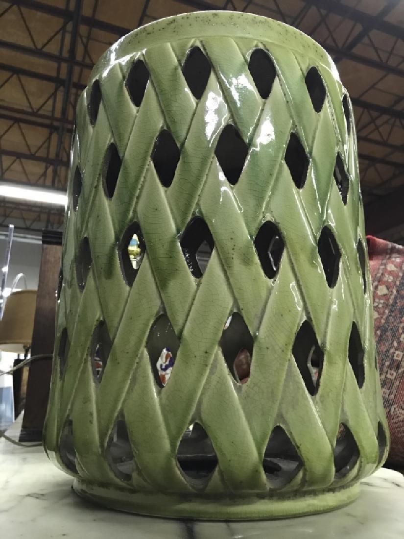 Green Toned Porcelain Garden Stool - 6