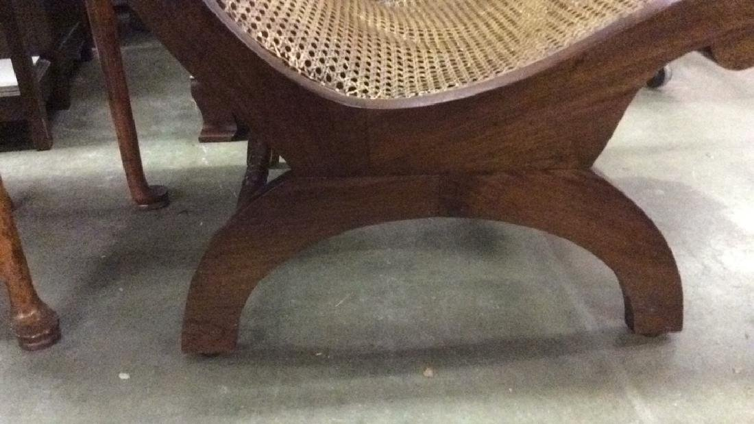 Polished Wood and Cane Plantation Chair - 6