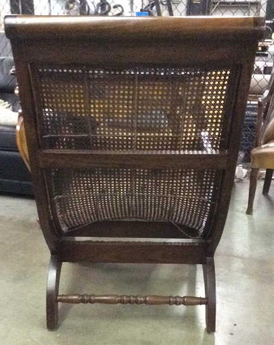 Polished Wood and Cane Plantation Chair - 8