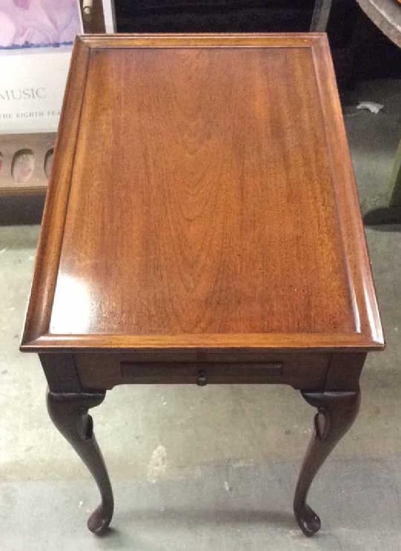 Antique Polished Walnut Tea Table - 3