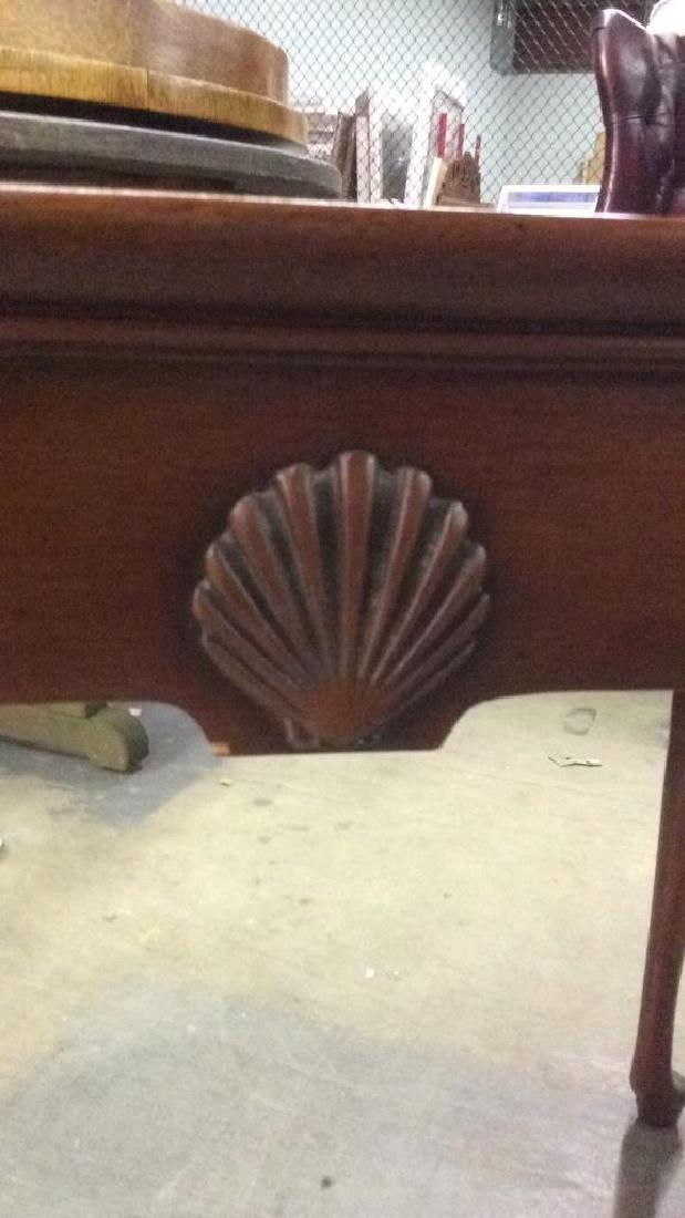 Antique Polished Walnut Tea Table - 6