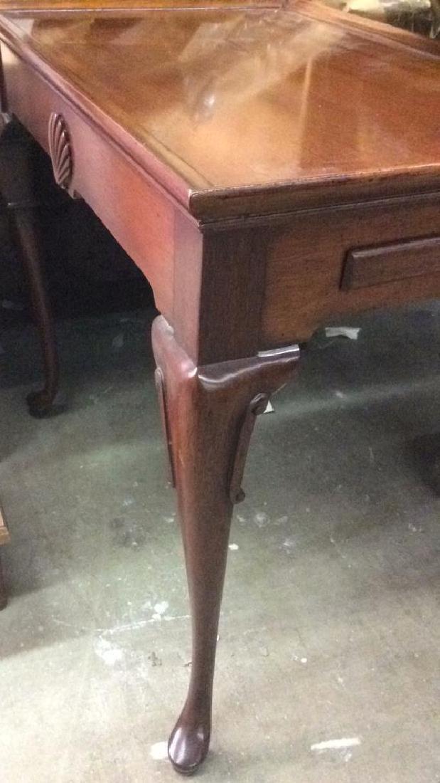 Antique Polished Walnut Tea Table - 8
