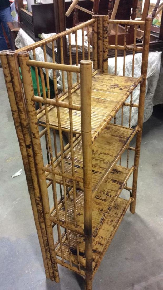 Faux Bamboo or Bamboo Display Shelf - 3