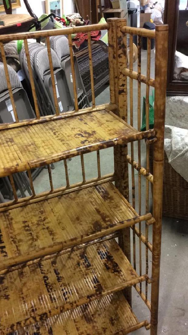 Faux Bamboo or Bamboo Display Shelf - 7