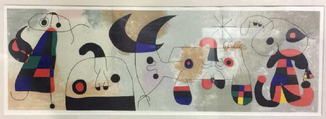 Joan Miró Mixed Media Print 'Sur Quatre Murs'