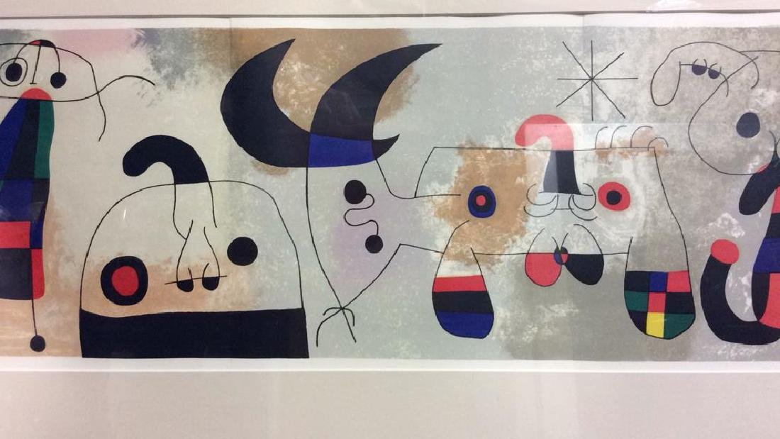 Joan Miró Mixed Media Print 'Sur Quatre Murs' - 2