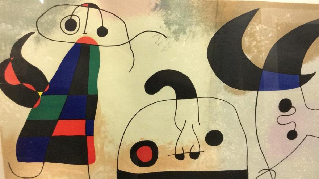 Joan Miró Mixed Media Print 'Sur Quatre Murs' - 3