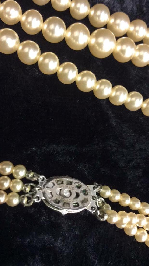 TRIFARI Pearl and Sterling Necklace. - 5