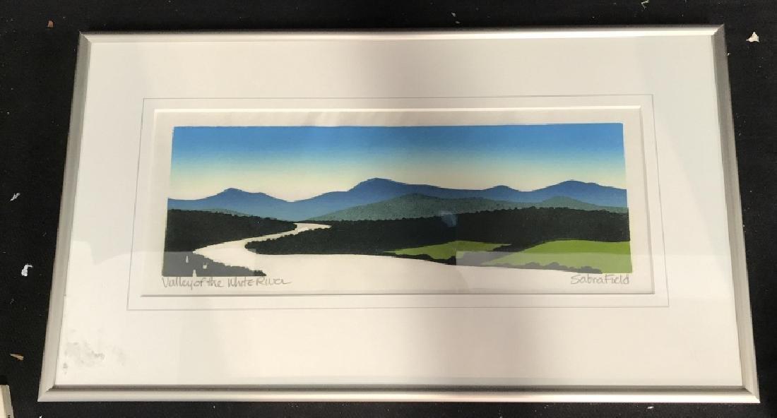 Valley Of The White River: Sabra Field Framed Art
