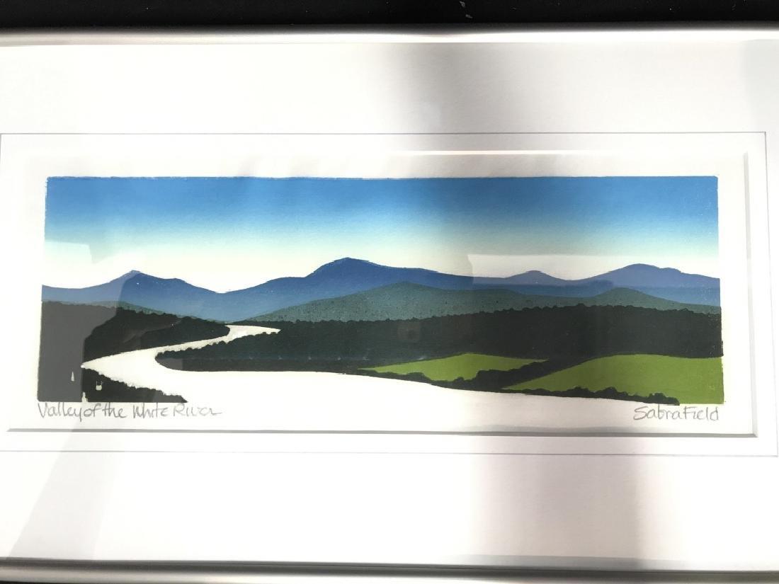 Valley Of The White River: Sabra Field Framed Art - 2