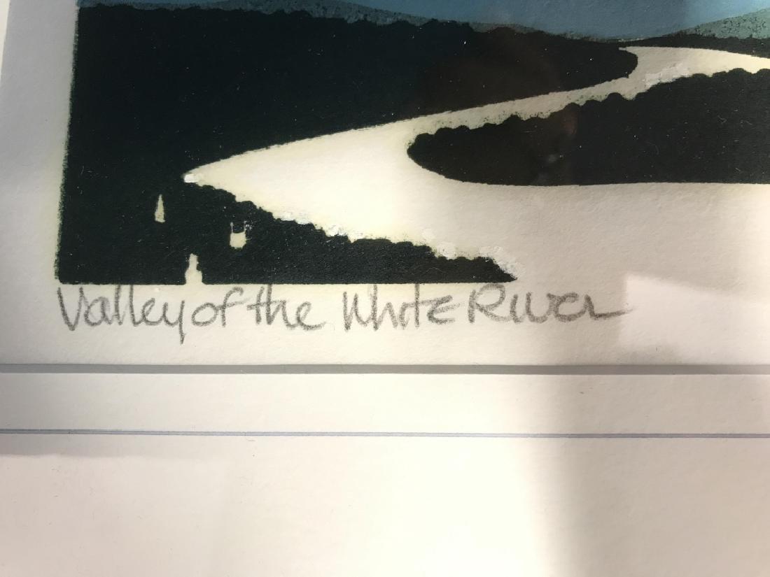 Valley Of The White River: Sabra Field Framed Art - 3