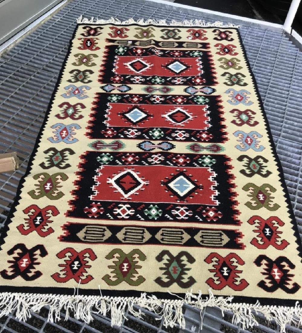 Aztec Print Colorful Woven Area Rug