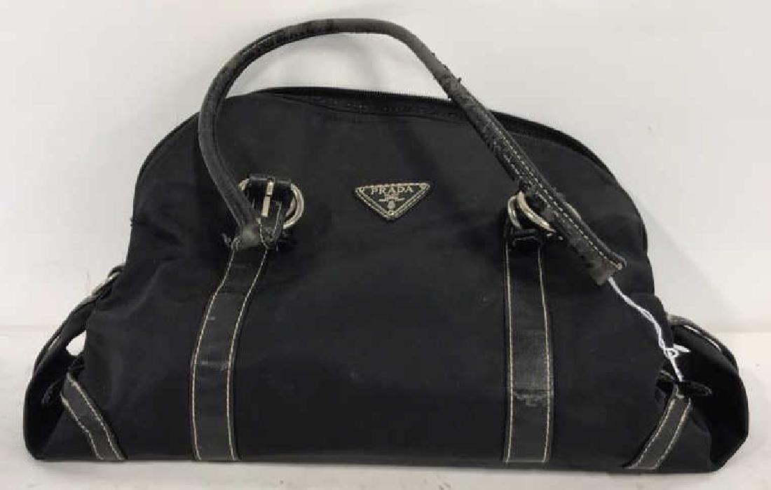 Prada Nylon and Leather Pocketbook Purse