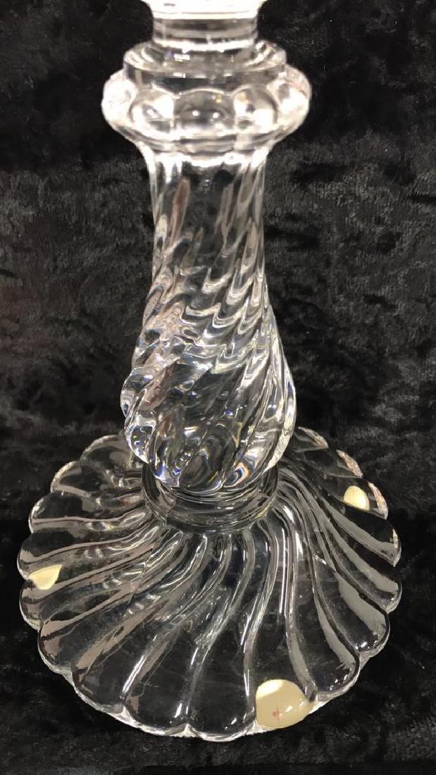 Pair Baccarat Crystal Candlesticks - 6