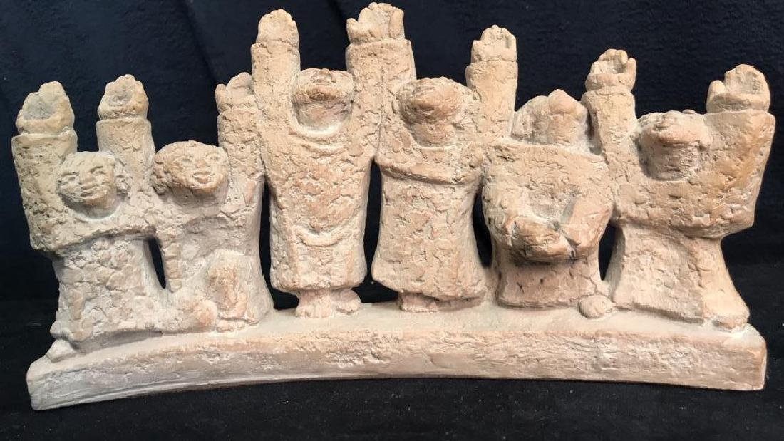 Hand Crafted Figural Ceramic Judiaca Menorah