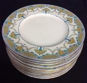 Set 10 MINTONS England Porcelain Ceramic Plates