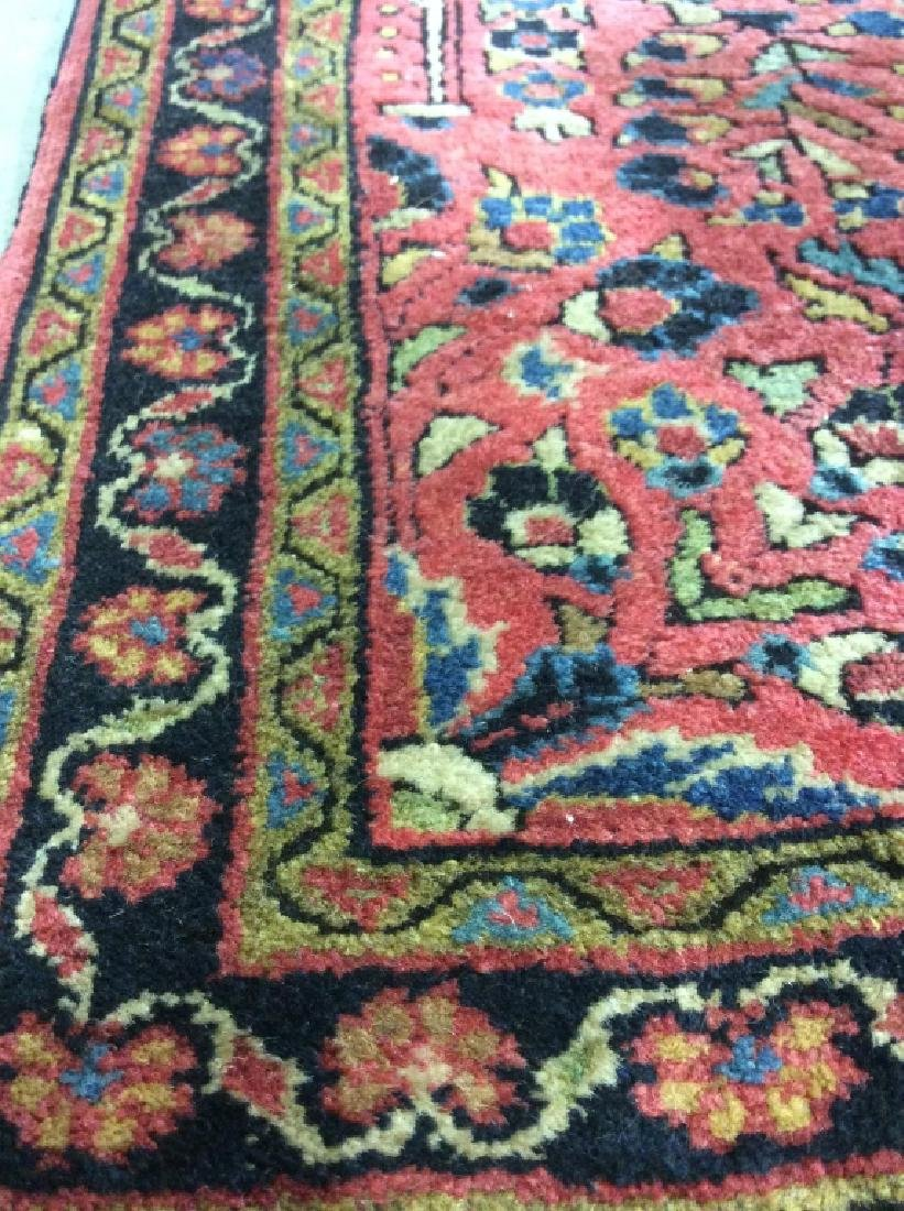 Handmade Persian Fringed Wool Rug - 2