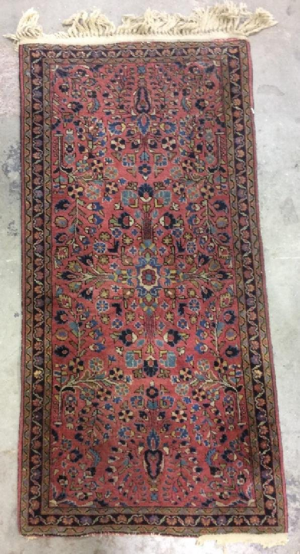 Handmade Persian Fringed Wool Rug - 3