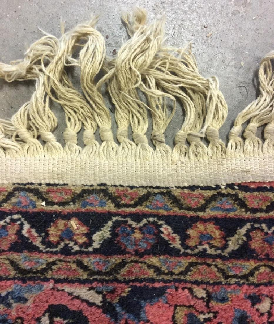 Handmade Persian Fringed Wool Rug - 4