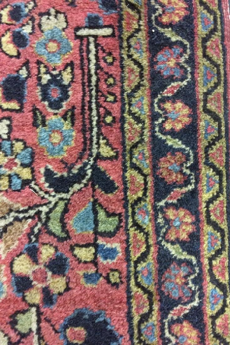 Handmade Persian Fringed Wool Rug - 5