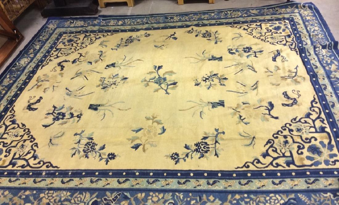 Chinese Art Deco Handmade Wool Rug - 3