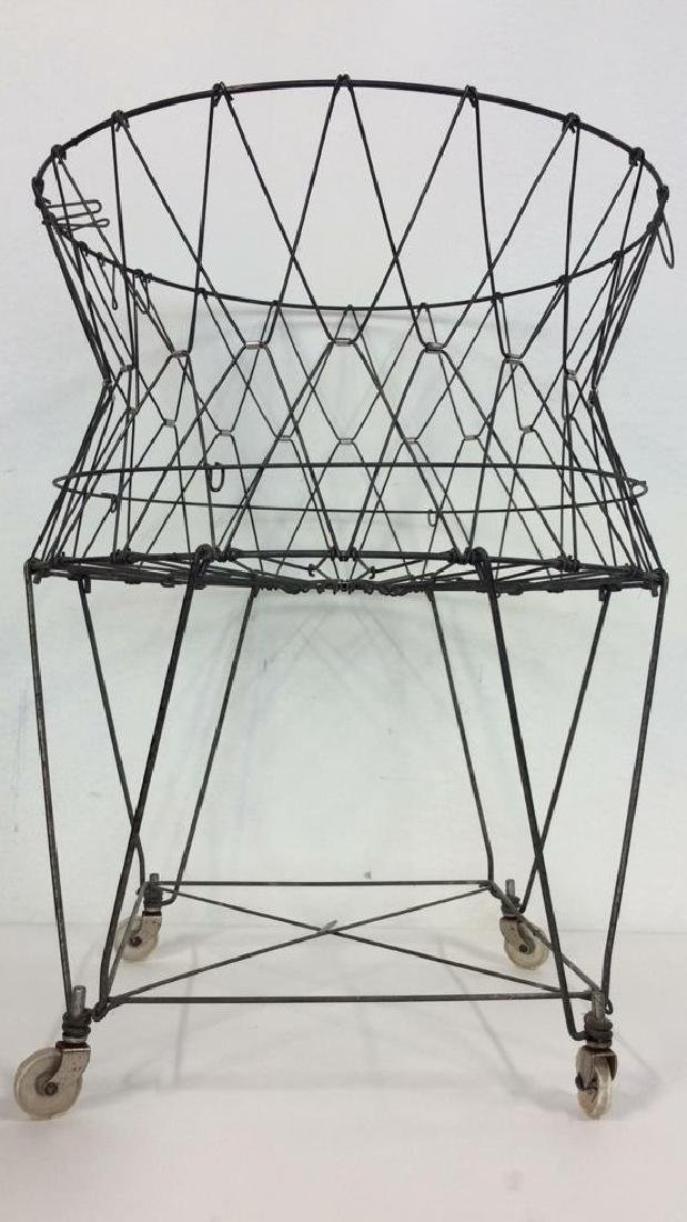 Midcentury Industrial Laundry Basket c1960s
