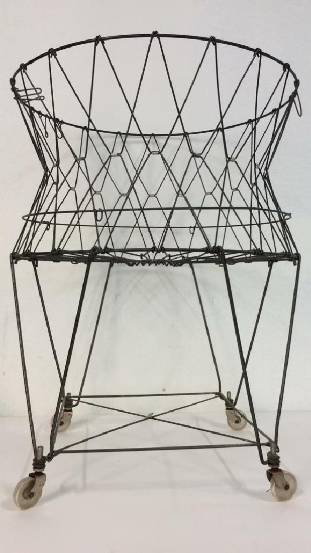 Midcentury Industrial Laundry Basket c1960s - 2
