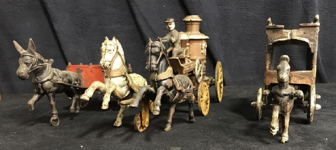 Antique Painted Metal Circus Set Toy Decor - 4