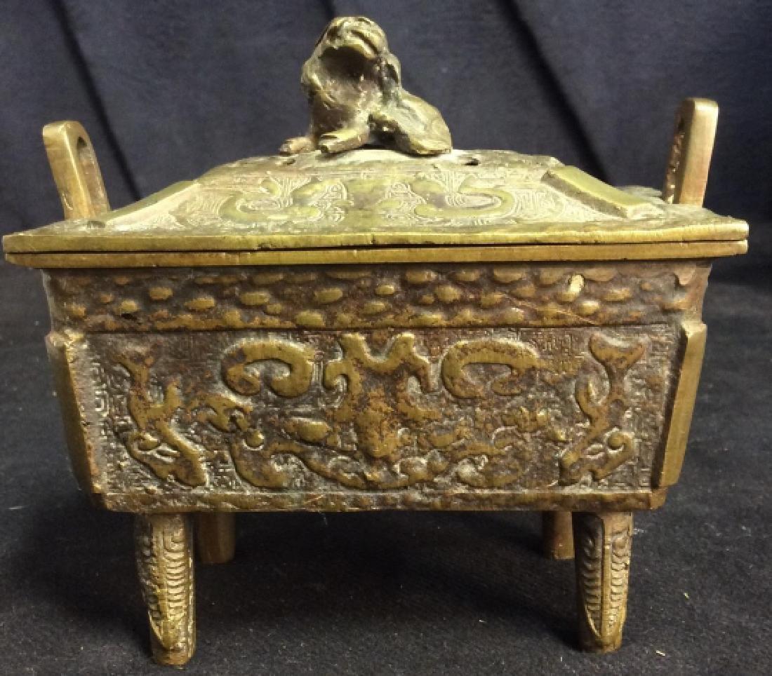 Antique Chinese Brass Incense Burner Censer