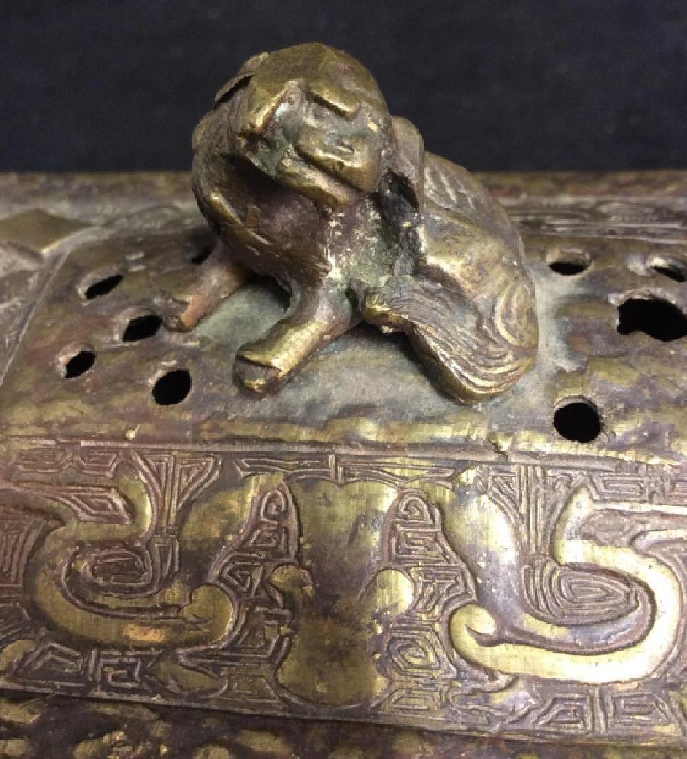 Antique Chinese Brass Incense Burner Censer - 3