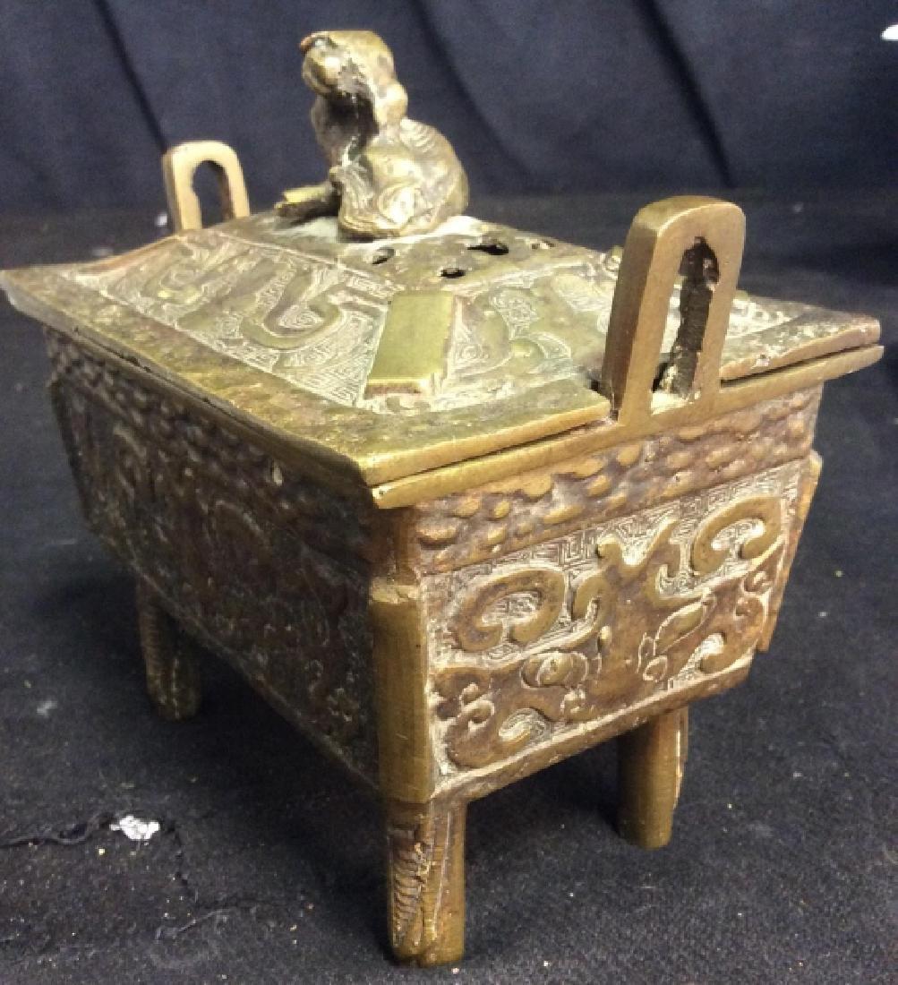 Antique Chinese Brass Incense Burner Censer - 4