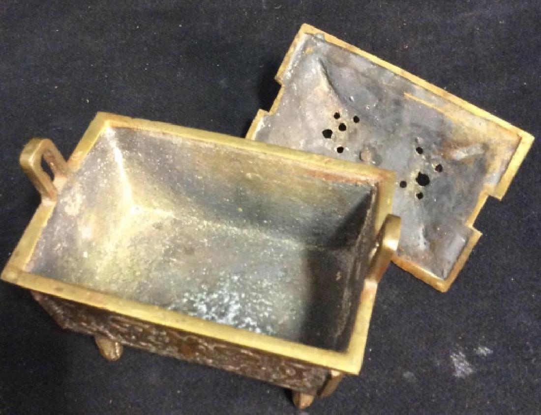 Antique Chinese Brass Incense Burner Censer - 7