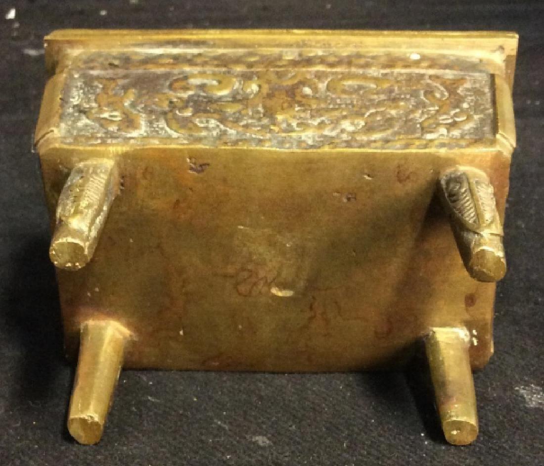 Antique Chinese Brass Incense Burner Censer - 9