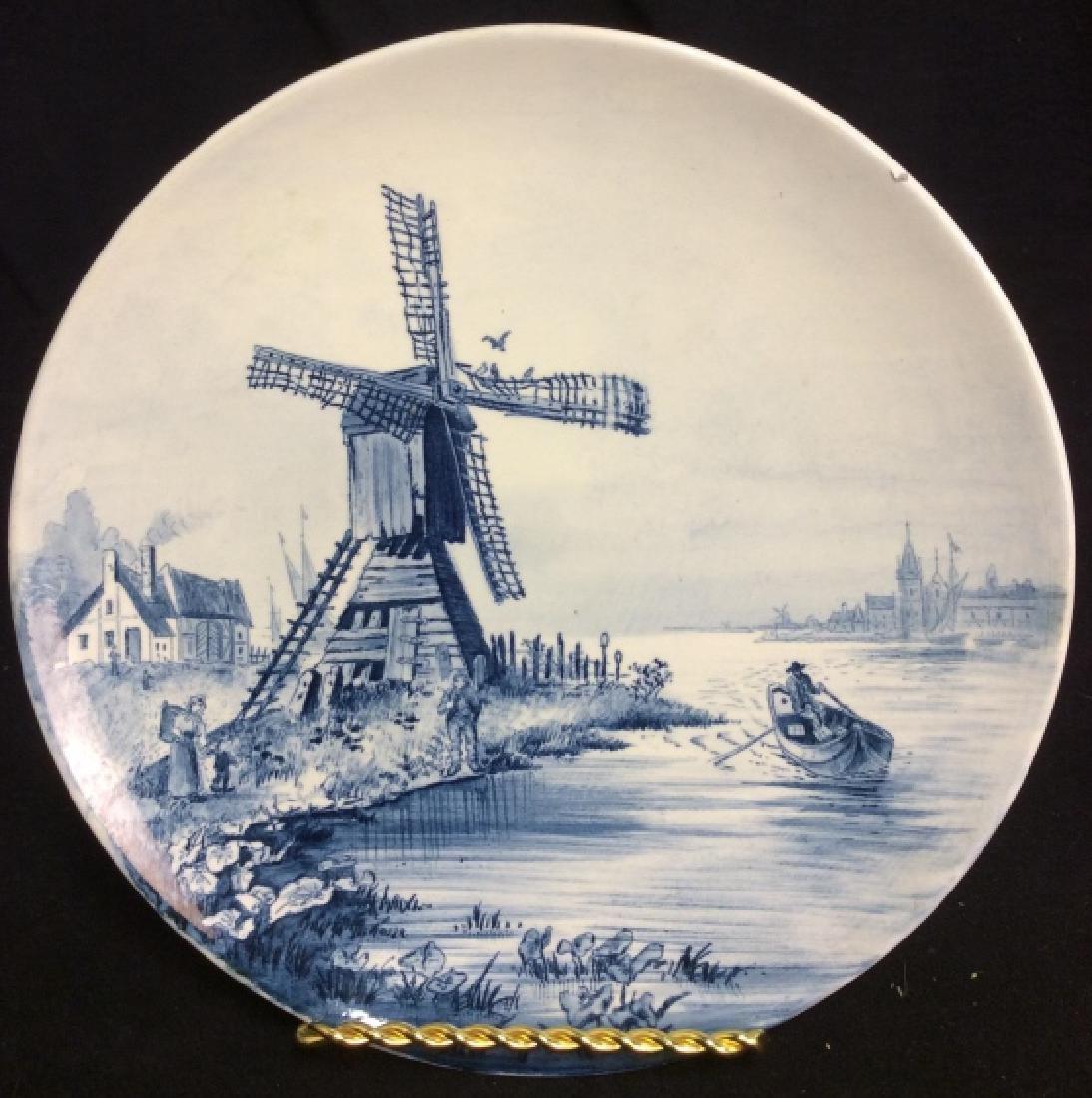 Antique Windmill Delft Plate