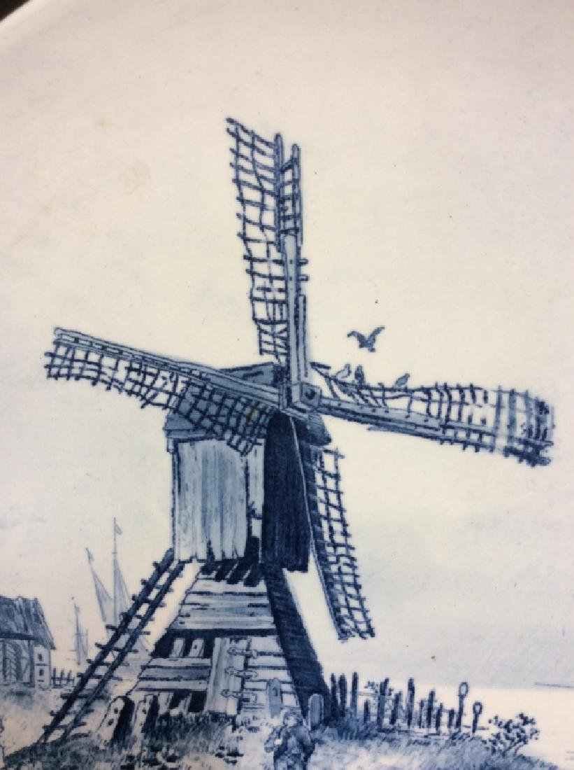 Antique Windmill Delft Plate - 2