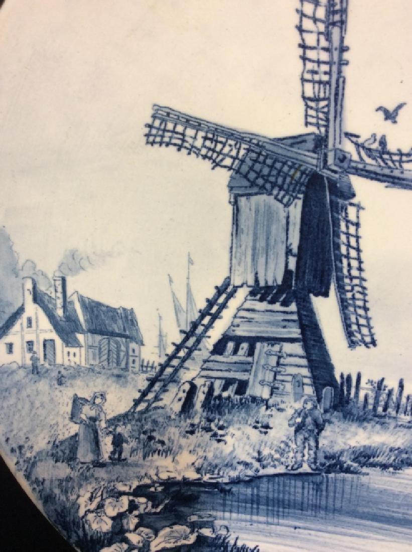 Antique Windmill Delft Plate - 3