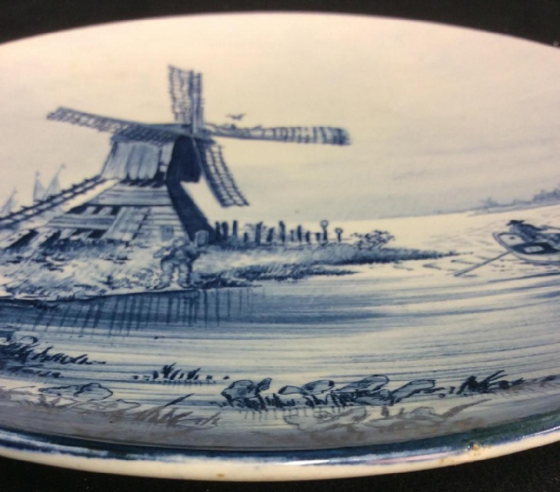 Antique Windmill Delft Plate - 8