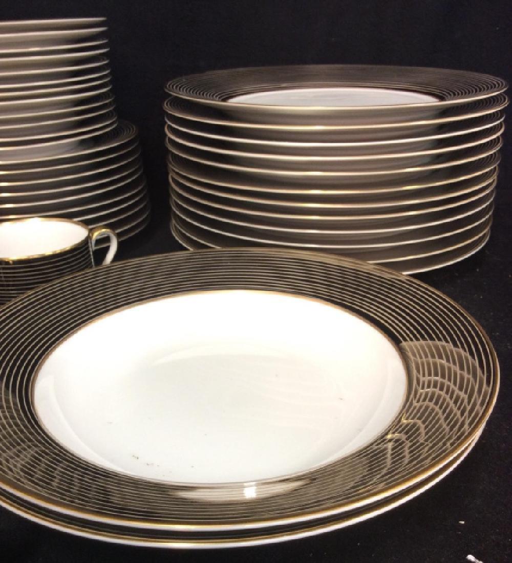 Set62 FITZ&FLOYD Les Bandes Platinées Dishes - 3