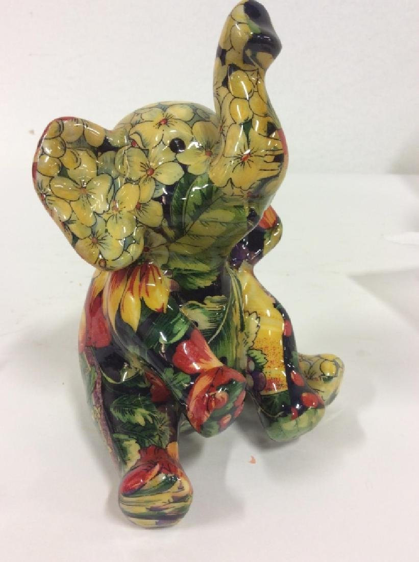 Sitting Baby Elephant Figurine - 2