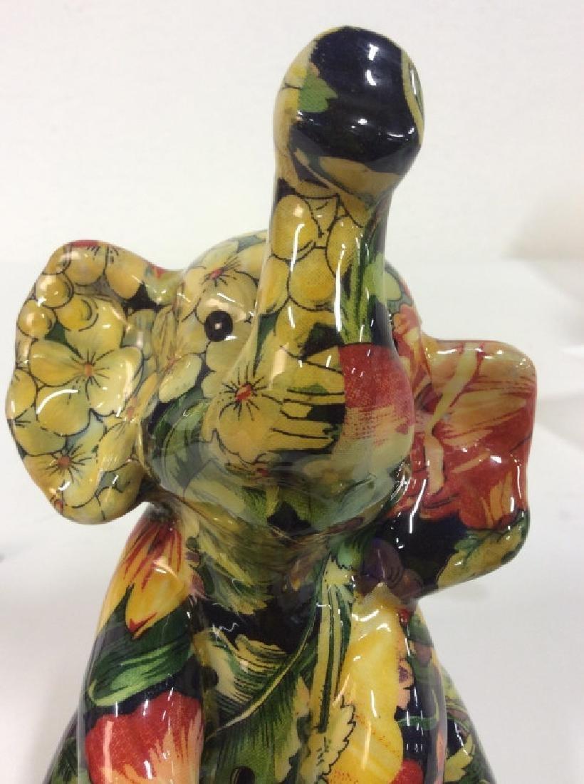 Sitting Baby Elephant Figurine - 7