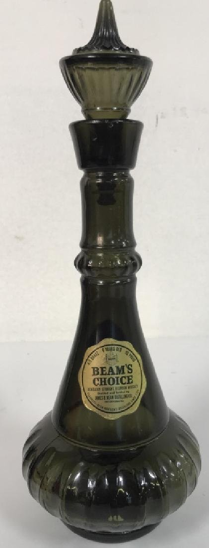 JIM BEAM Art Glass Decanter W Stopper