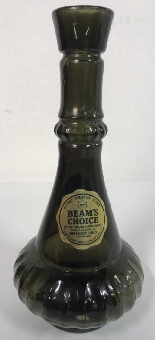 JIM BEAM Art Glass Decanter W Stopper - 4