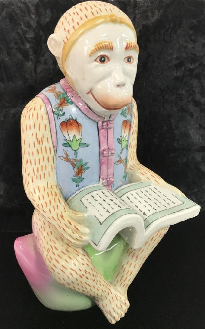 Chinese Painted Porcelain Monkey