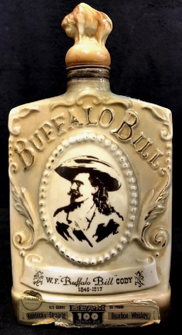 JIM BEAM BUFFALO BILL Handcrafted Decanter